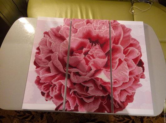Картины цветов ручной работы. Ярмарка Мастеров - ручная работа. Купить Розовая гвоздика. Handmade. Розовая гвоздика, шелк, розовый