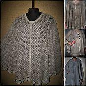 Одежда handmade. Livemaster - original item Associated from flax .Fishnet poncho from 3500 rubles. Handmade.