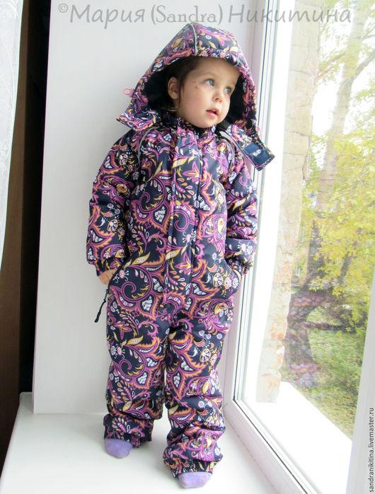"""Одежда для девочек, ручной работы. Ярмарка Мастеров - ручная работа. Купить """"Жар-птичка"""". Зимний комбинезон. Handmade. Разноцветный, слитный"""