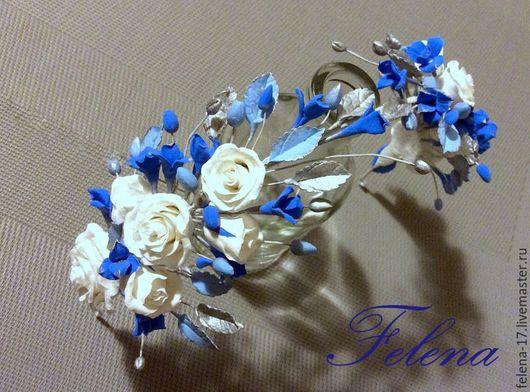Праздничный веночек для юной модницы!  Возможны различные варианты цветов и цвета!