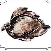 """Украшения ручной работы. Ярмарка Мастеров - ручная работа Брошь с Яшмой """"Осенний пейзаж"""". Handmade."""