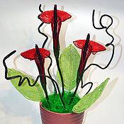 Цветы и флористика handmade. Livemaster - original item Red Calla bead