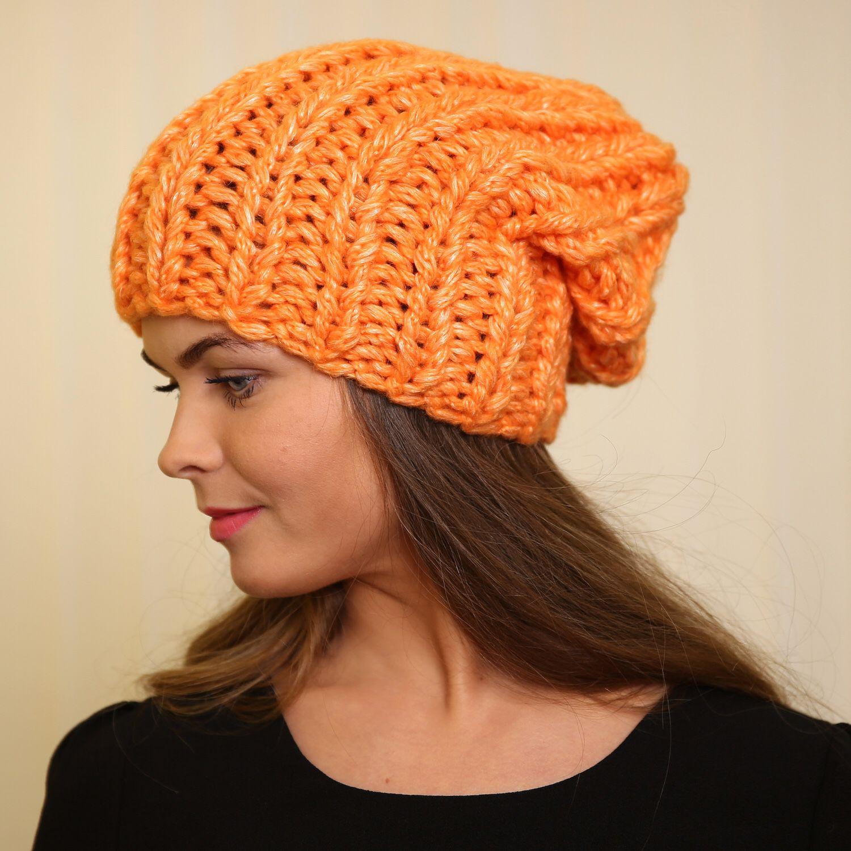 Sombrero de color naranja grande del atascamiento, Caps, Moscow,  Фото №1