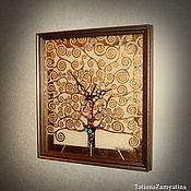 """Для дома и интерьера ручной работы. Ярмарка Мастеров - ручная работа Часы настенные """"Древо жизни"""" золото. Handmade."""