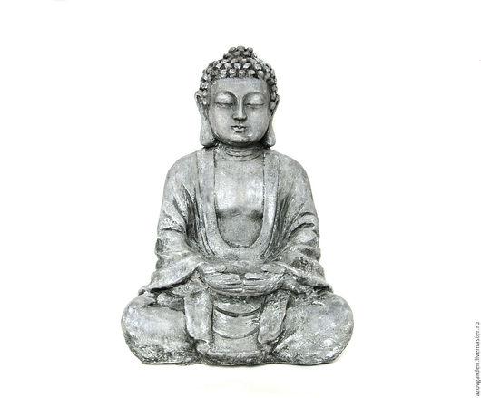 Статуэтки ручной работы. Ярмарка Мастеров - ручная работа. Купить Скульптура-подсвечник Будда для дома и сада из бетона серая. Handmade.