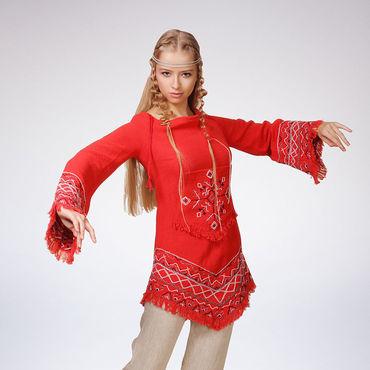 """Одежда ручной работы. Ярмарка Мастеров - ручная работа Вышитая туника """"Сейдорва"""", ручная вышивка. Handmade."""