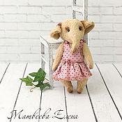 Куклы и игрушки ручной работы. Ярмарка Мастеров - ручная работа Слоненок тедди Элли. Handmade.