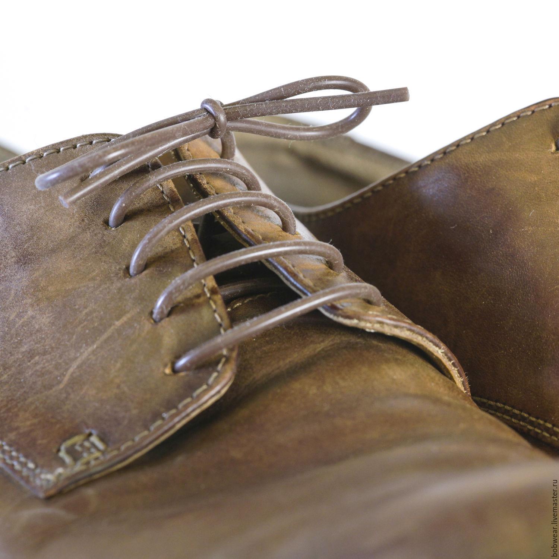 Силиконовые шнурки. Тонкие коричневые.