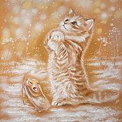 Картины ручной работы. Ярмарка Мастеров - ручная работа Снежинки ловить. Handmade.