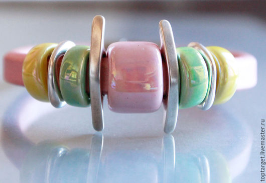 """Браслеты ручной работы. Ярмарка Мастеров - ручная работа. Купить Браслет регализ """"Утро"""". Handmade. Бледно-розовый, браслет"""