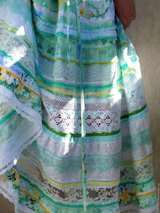 Платья ручной работы. Ярмарка Мастеров - ручная работа. Купить Бохо платье нежно-салатовое. Handmade. Салатовый, платье летнее