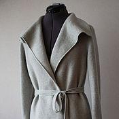 Одежда ручной работы. Ярмарка Мастеров - ручная работа Кардиган светло-серый. Handmade.