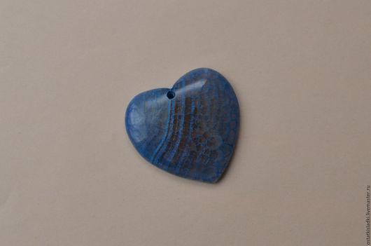 Для украшений ручной работы. Ярмарка Мастеров - ручная работа. Купить Агат кракелированный, сердце, кулон без оправы. Handmade.