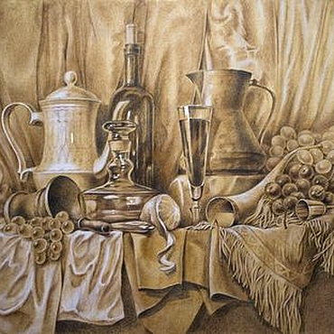 Картины и панно ручной работы. Ярмарка Мастеров - ручная работа Натюрморт в голландском стиле.. Handmade.