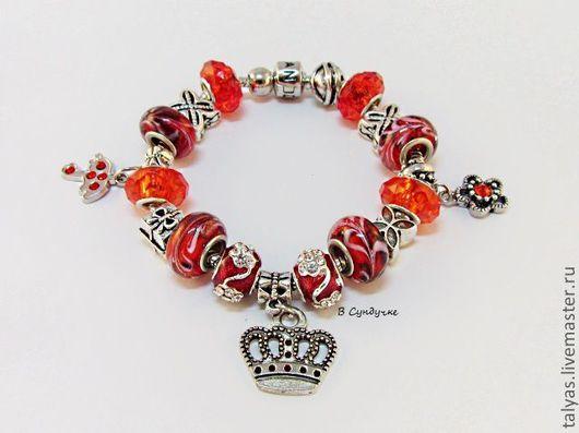 """Браслеты ручной работы. Ярмарка Мастеров - ручная работа. Купить Браслет в стиле Pandora """"Моя королева"""". Handmade. Пандора"""