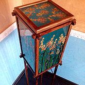 Для дома и интерьера handmade. Livemaster - original item Summer blue floor lamp - outdoor lamp. Handmade.