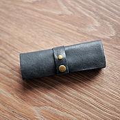 Канцелярские товары handmade. Livemaster - original item pencil case for pens leather. Handmade.