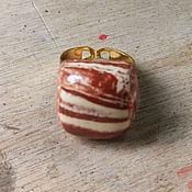 """Украшения ручной работы. Ярмарка Мастеров - ручная работа Керамическое кольцо """"Терракотта"""". Handmade."""