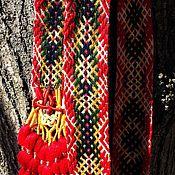 """Русский стиль ручной работы. Ярмарка Мастеров - ручная работа Тканый пояс """"Весна"""". Handmade."""