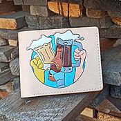 """Портмоне ручной работы. Ярмарка Мастеров - ручная работа Портмоне ручной работы с тиснением """" Пивка для рывка"""". Handmade."""
