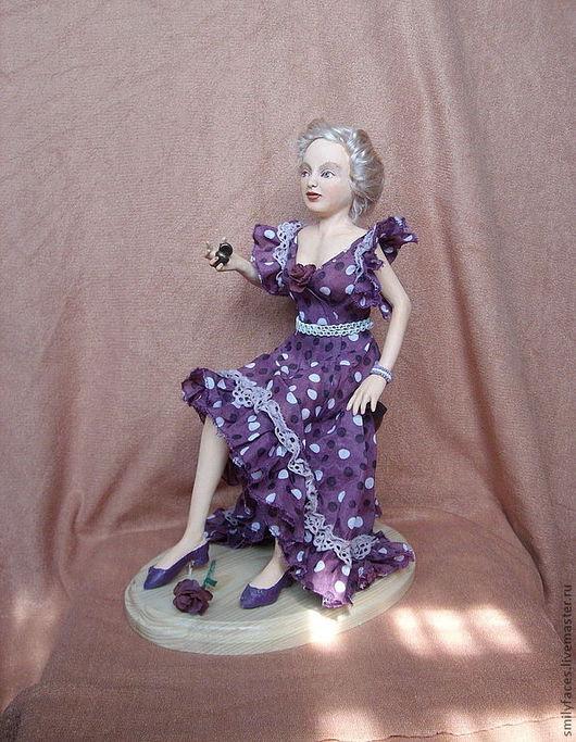 Коллекционные куклы ручной работы. Ярмарка Мастеров - ручная работа. Купить интерьерная авторская кукла После Дебюта. Handmade. Брусничный