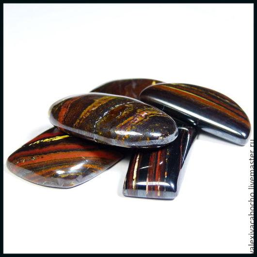 Для украшений ручной работы. Ярмарка Мастеров - ручная работа. Купить Кабошоны натуральный камень джаспилит. Handmade. Кабошон