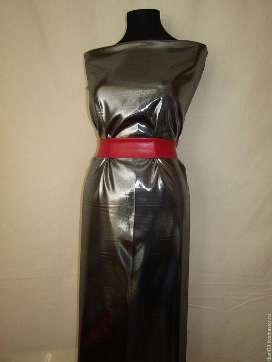 Шитье ручной работы. Ярмарка Мастеров - ручная работа. Купить Атлас металлик арт.168 АТМ-1 (Китай) черный металлик. Handmade.