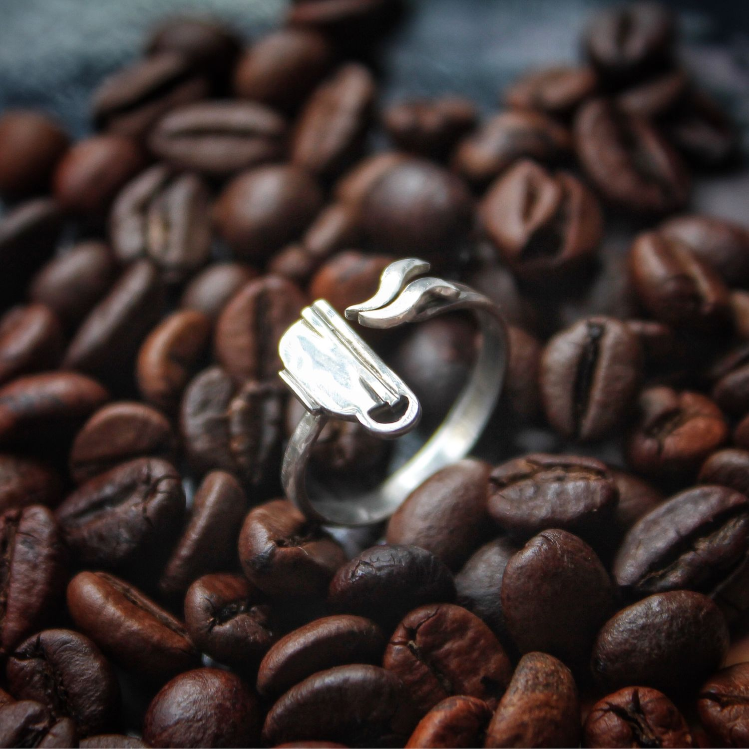 Coffee ring in sterling silver coffee Cup, Rings, Tver,  Фото №1