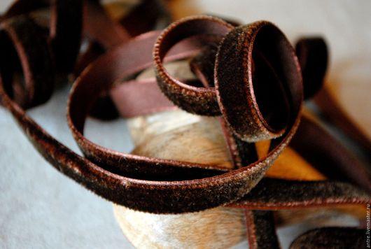 """Шитье ручной работы. Ярмарка Мастеров - ручная работа. Купить Бархатная лента """"Шоколад"""" (Греция). Handmade. Коричневый, бархатная лента"""