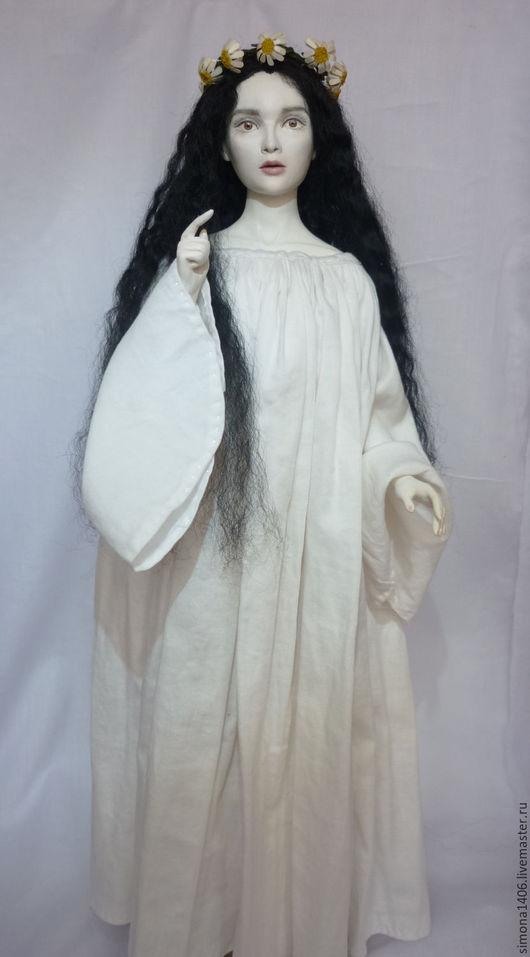 Коллекционные куклы ручной работы. Ярмарка Мастеров - ручная работа. Купить Панночка. Handmade. Чёрно-белый, сказка, девушка
