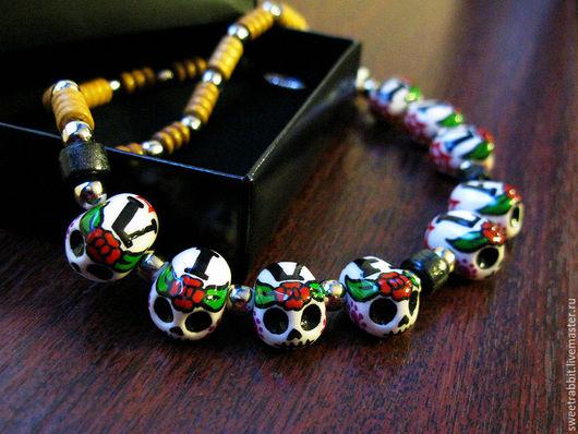 """Колье, бусы ручной работы. Ярмарка Мастеров - ручная работа. Купить Ожерелье  """"VIVA LA VIDA"""". Handmade. Ожерелье, этника"""
