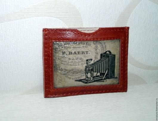 Кошельки и визитницы ручной работы. Ярмарка Мастеров - ручная работа. Купить Чехол для карточек, визиток, проездного, карты ,кардхолдер. Handmade.