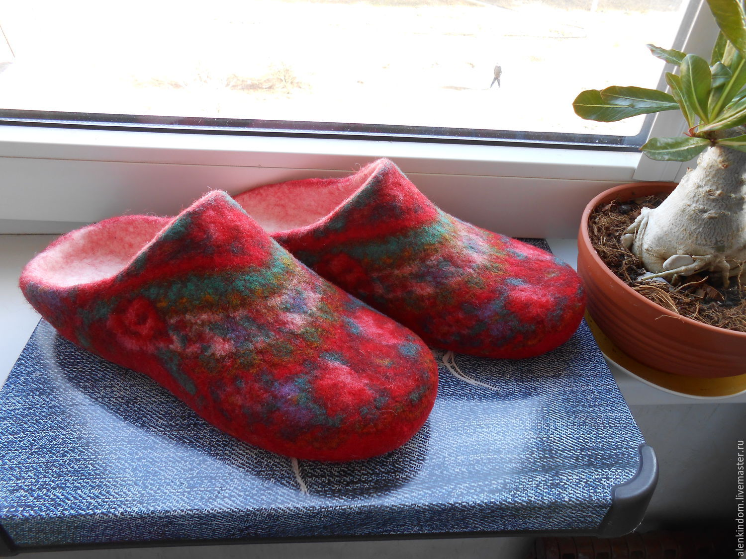 Felted women's Slippers with double heel, Slippers, Domodedovo,  Фото №1