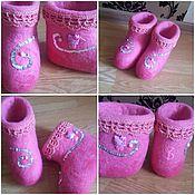 "Обувь ручной работы. Ярмарка Мастеров - ручная работа Валенки ""Hello Kitty"". Handmade."
