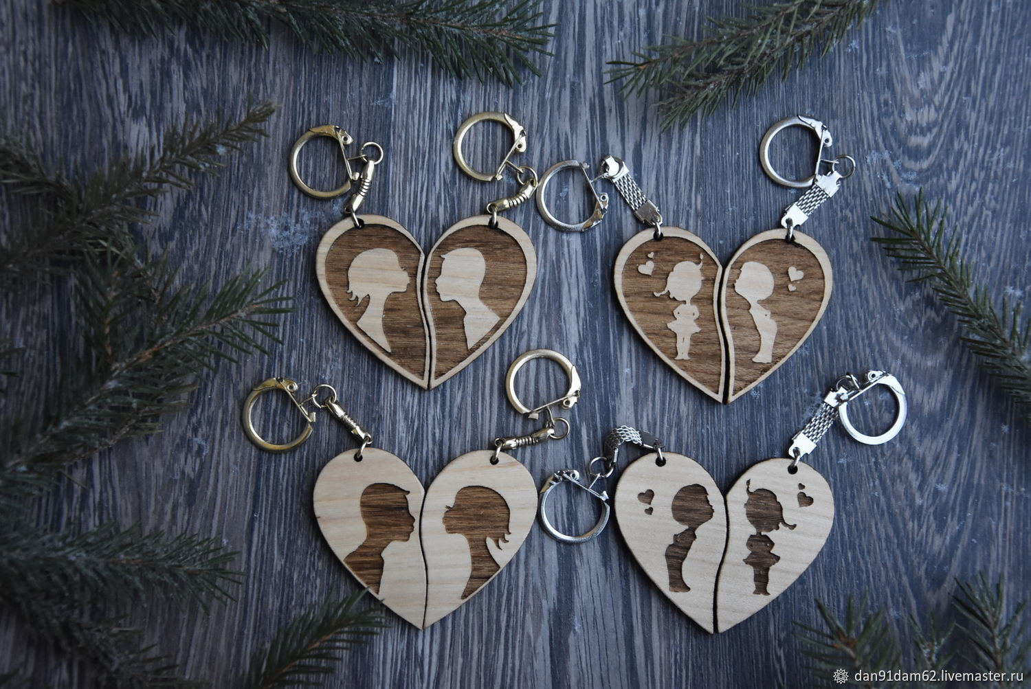 Paired keychains for lovers, Key chain, Kukmor,  Фото №1