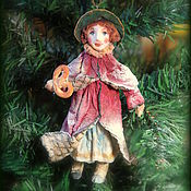 Куклы и игрушки ручной работы. Ярмарка Мастеров - ручная работа Мэри.Елочная игрушка из ваты.. Handmade.