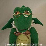 """Мягкие игрушки ручной работы. Ярмарка Мастеров - ручная работа Дракон """"Интеллектуал"""". Handmade."""