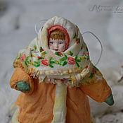 Подарки к праздникам ручной работы. Ярмарка Мастеров - ручная работа Ватная елочная игрушка ДУНЯША. Handmade.