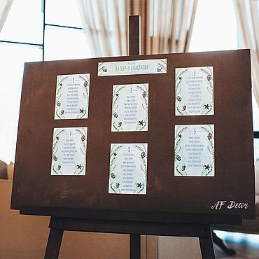 Свадебный салон ручной работы. Ярмарка Мастеров - ручная работа Аксессуары: Мольберт+щит. Handmade.