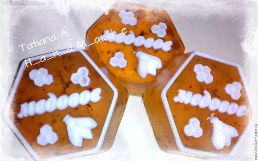 """Мыло ручной работы. Ярмарка Мастеров - ручная работа. Купить Мыло ручной работы """"Медовое"""". Handmade. Оранжевый, с облепихой и медом"""
