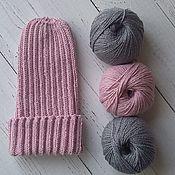 """Работы для детей, ручной работы. Ярмарка Мастеров - ручная работа Шапка тыковка """"Нежно розовый"""". Handmade."""