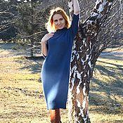 Dresses handmade. Livemaster - original item Dress Petrol. Handmade.