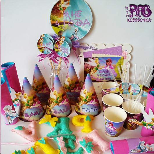Праздничная атрибутика ручной работы. Ярмарка Мастеров - ручная работа. Купить В мире фей - оформление праздника для маленькой феи. Handmade.
