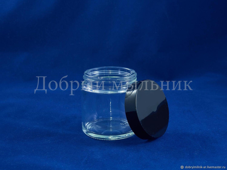 Баночка стекло 100 мл прозрачная, Флаконы, Москва,  Фото №1