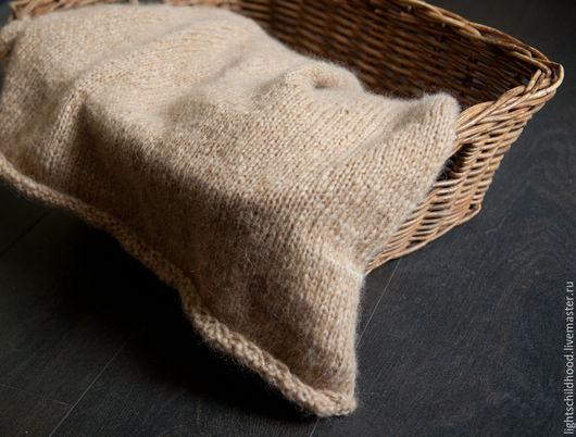 Пледы и одеяла ручной работы. Ярмарка Мастеров - ручная работа. Купить Плед вязанный, плед для новорожденного, плед для фотосесессии. Handmade.