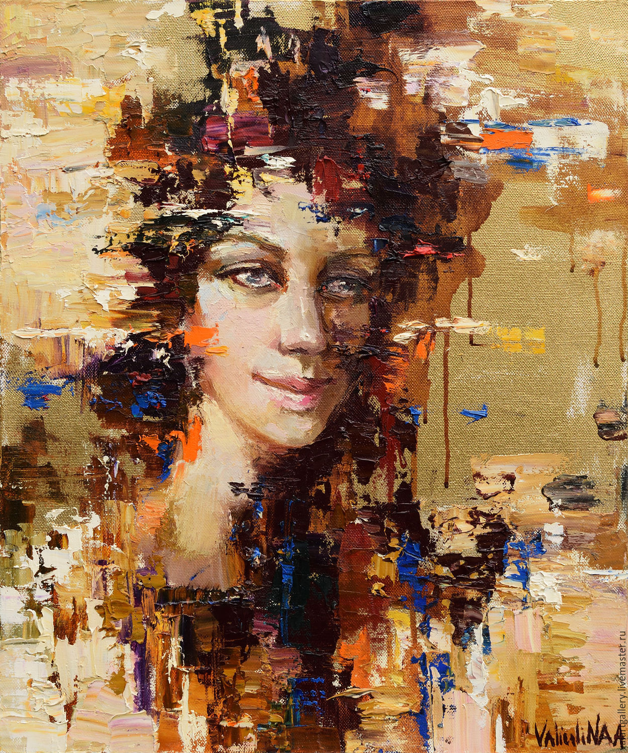 c32796587 Abstract girl portrait painting  8 – shop online on Livemaster with ...