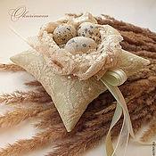 Свадебный салон ручной работы. Ярмарка Мастеров - ручная работа Юнона.Комплект подушечка+подвязка. Handmade.