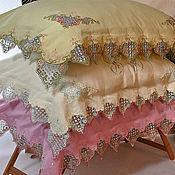 Для дома и интерьера ручной работы. Ярмарка Мастеров - ручная работа Постельное белье с кружевом. Handmade.