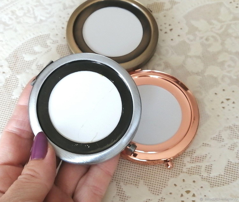 Pocket mirror, base Art. ZK03, Blanks for jewelry, Irkutsk,  Фото №1