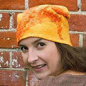 "Аксессуары ручной работы. Ярмарка Мастеров - ручная работа ""Хитрый,рыжий,влюбленный""шапка валяная теплая. Handmade."
